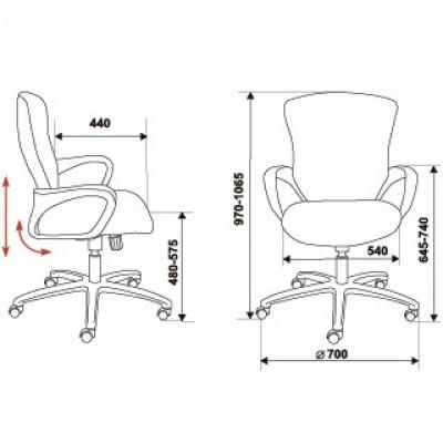 Офисное кресло CH-818AXSN-LOW основное изображение