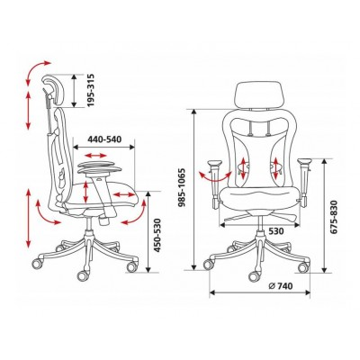 Кресло руководителя CH-999ASX основное изображение