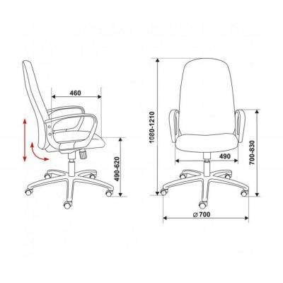 Мягкое кресло для офиса CH-808AXSN основное изображение