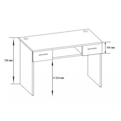 Компьютерный стол КСТ-107.1 + КН-17.1 основное изображение
