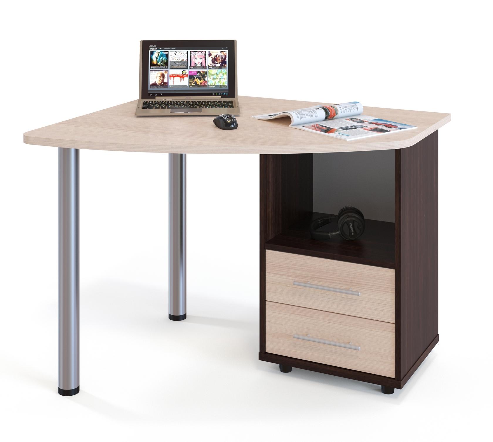 письменный угловой стол для ноутбука кст 102 пристон письменные