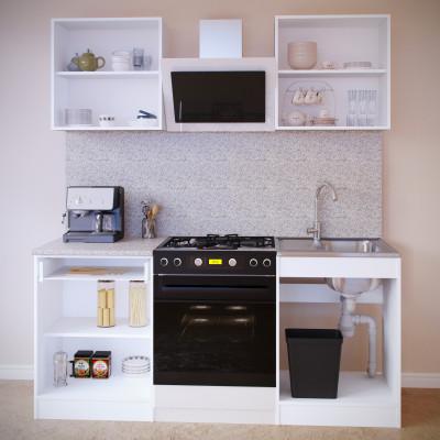 Прямой кухонный гарнитур ПН-06 + ТК-06.1 + ПН-06 + ТК-06м основное изображение