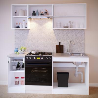 Прямой кухонный гарнитур ПН-04 + ТК-04.1 + ПН-06.2 + ПН-08 + ТК-08м основное изображение