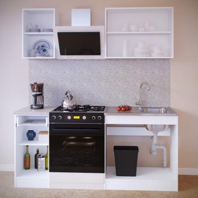Прямой кухонный гарнитур ПН-04+ТК-04.1+ПН-08+ТК-08м основное изображение
