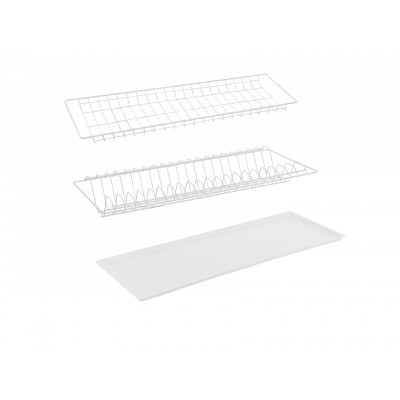 Сушилка для посуды Сушилка (с поддоном) 565 мм белая основное изображение