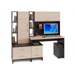 Компьютерный стол со стеллажом КСТ-114 + КН-03 + СТ-10