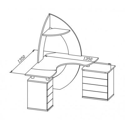 Компьютерный стол КСТ-101 + КТ-101.1 + КТ-102 основное изображение