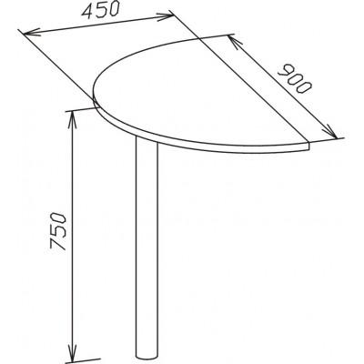 Стол-приставка СПР-03 основное изображение