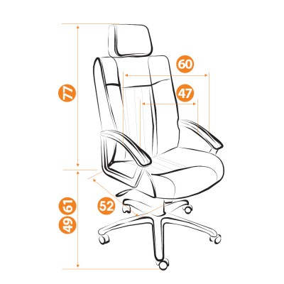 Кресло руководителя Oxford хром основное изображение